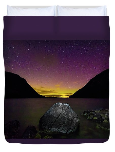 Willoughby Aurora And Boulder Duvet Cover