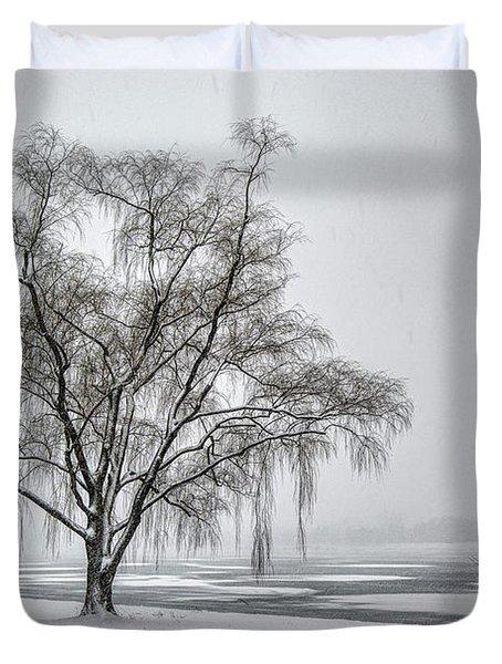 Willow In Blizzard Duvet Cover