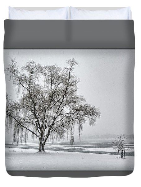 Willow In Blizzard Duvet Cover