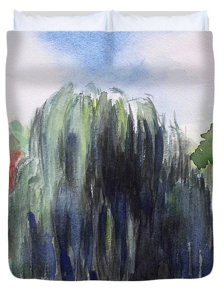 Willow Tree -2  Hidden Lake Gardens -tipton Michigan Duvet Cover