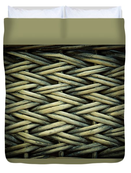 Duvet Cover featuring the photograph Willow Weave by Les Cunliffe