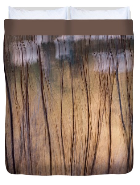 Willows In Winter Duvet Cover