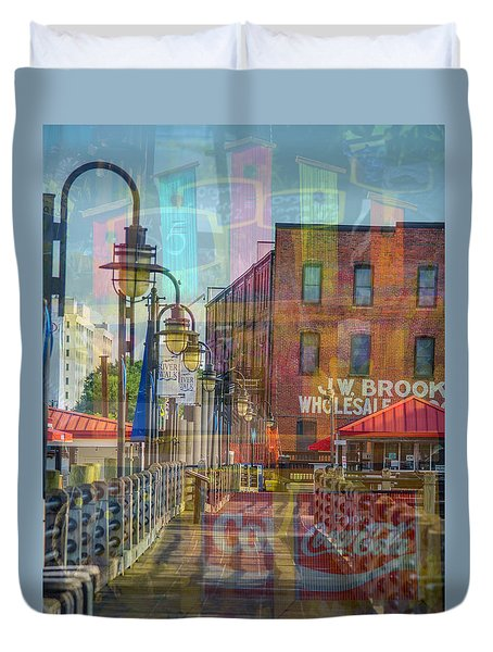 Wilmington North Carolina Riverfront Duvet Cover
