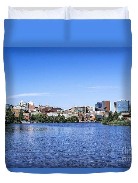 Wilmington Skyline Duvet Cover by John Greim