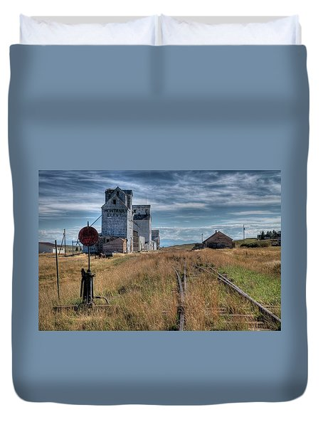 Wilsall Grain Elevators Duvet Cover