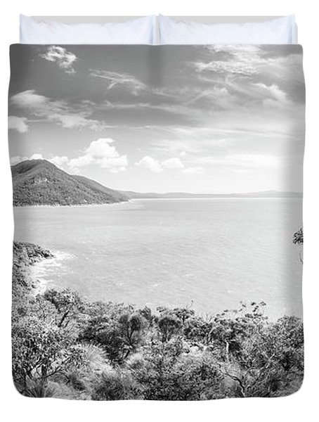 Wilsons Promontory Panorama Black And White Duvet Cover