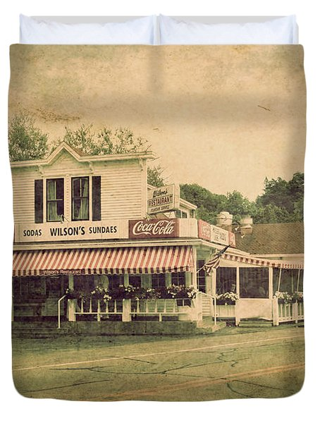 Wilson's Restaurant And Ice Cream Parlor Duvet Cover