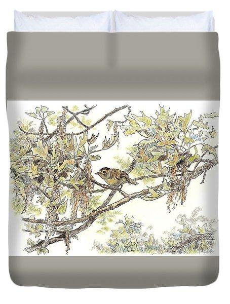 Wilson's Warbler Duvet Cover