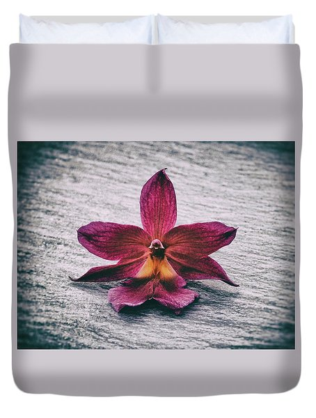 Wilting Orchid  Duvet Cover