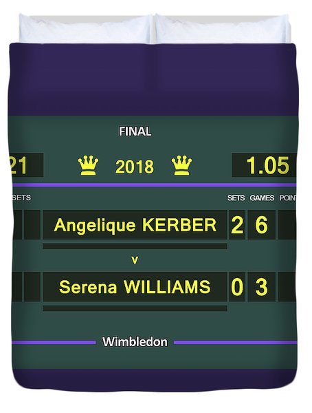 Wimbledon Scoreboard - Customizable - 2017 Muguruza Duvet Cover