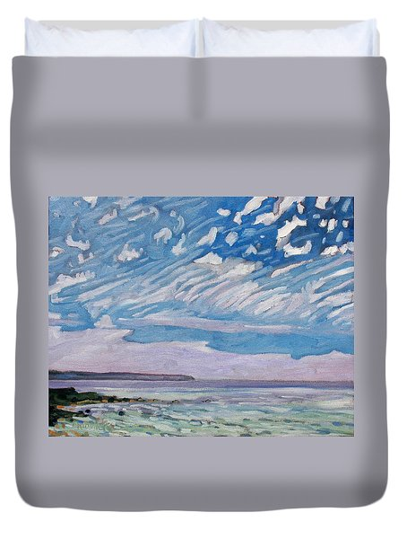 Wimpy Cold Front Duvet Cover by Phil Chadwick