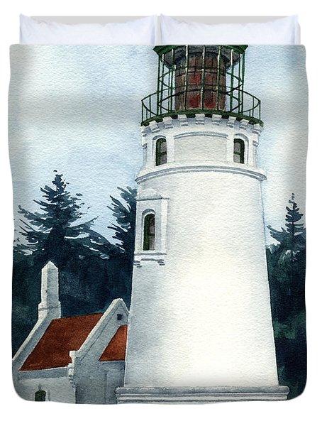 Winchester Bay Lighthouse Duvet Cover
