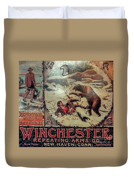 Winchester Sign Duvet Cover
