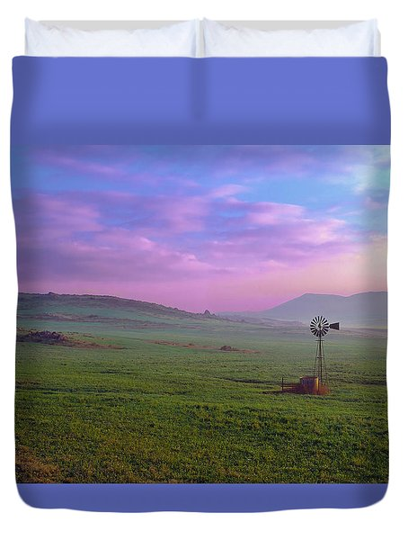 Winchester Windmill Pano View Duvet Cover