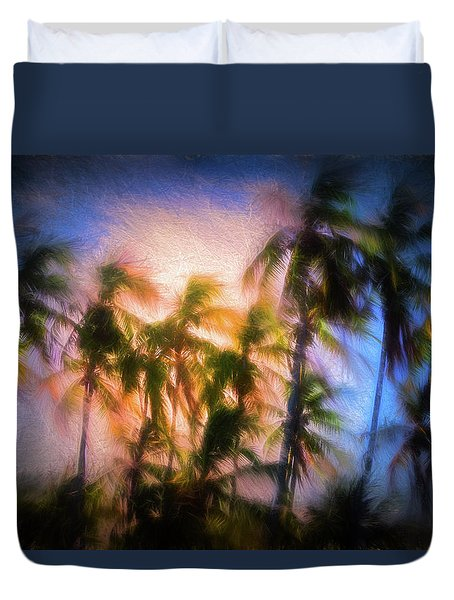 Wind And Palms Duvet Cover