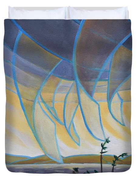Wind And Rain Duvet Cover
