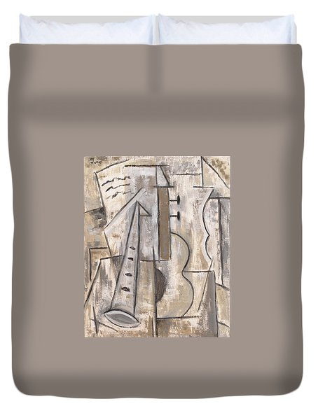 Wind And Strings Duvet Cover