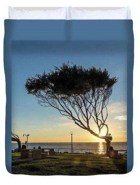 Wind Blown Tree Duvet Cover