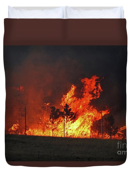 Wildfire Flames Duvet Cover