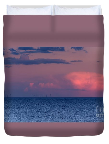 Wind Farm Duvet Cover by David  Hollingworth