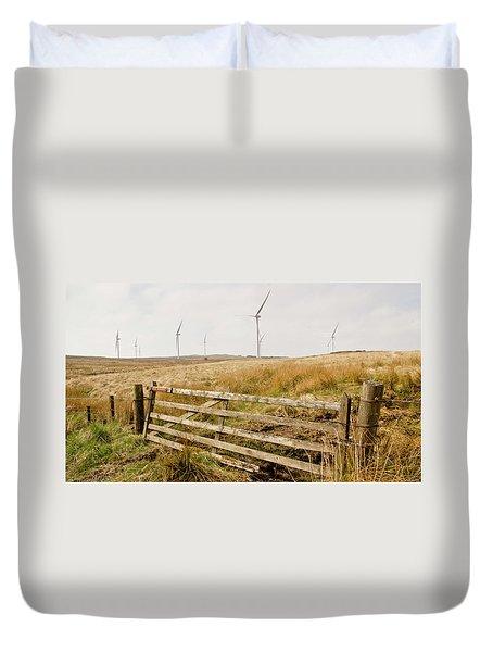 Wind Farm On Miller's Moss. Duvet Cover