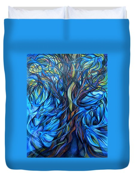 Wind From The Past Duvet Cover