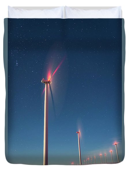 Duvet Cover featuring the photograph Wind Power by Cat Connor