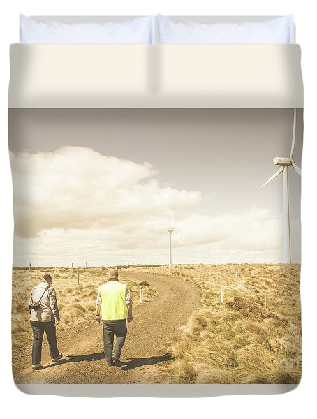 Wind Power Travel Tour Duvet Cover