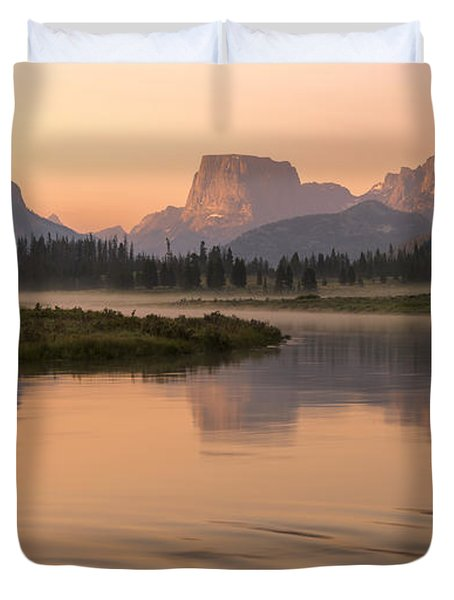 Duvet Cover featuring the photograph Wind River Dawn by Dustin  LeFevre