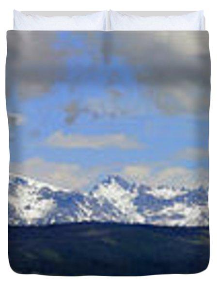Dm9504-wind River Range Panorama  Duvet Cover