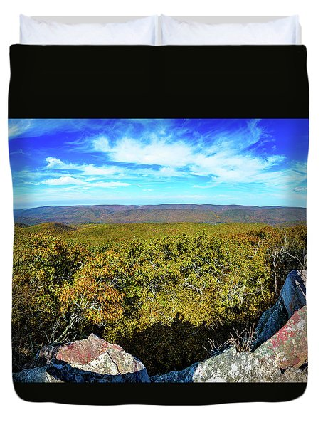 Wind Rock Panorama Duvet Cover