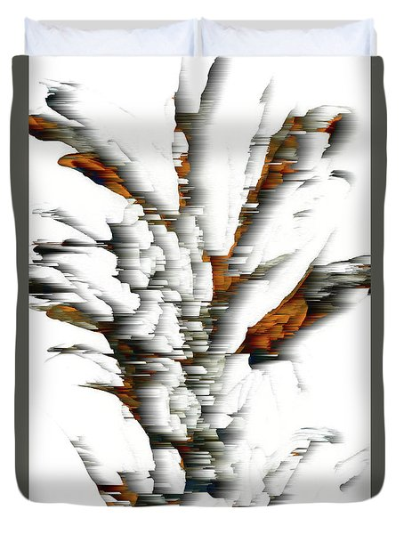 Duvet Cover featuring the painting Wind Series 05.072311windblastscvss by Kris Haas
