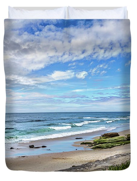 Duvet Cover featuring the photograph Windansea Wonderful by Peter Tellone