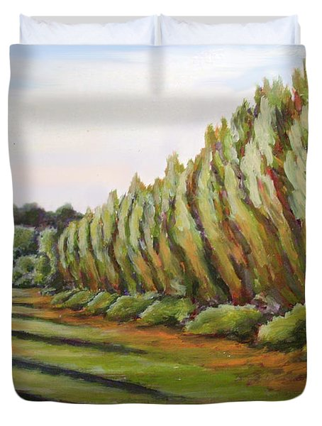 Windbreak Evening Duvet Cover