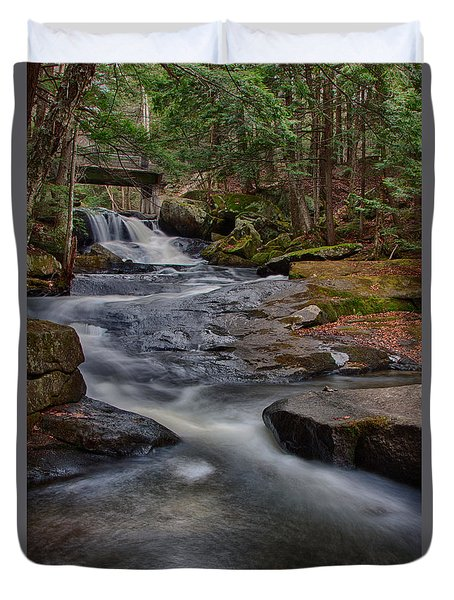 Duvet Cover featuring the photograph Winding Downstream by Jeff Folger