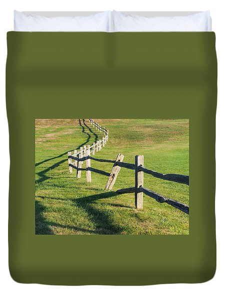 Winding Fences Duvet Cover