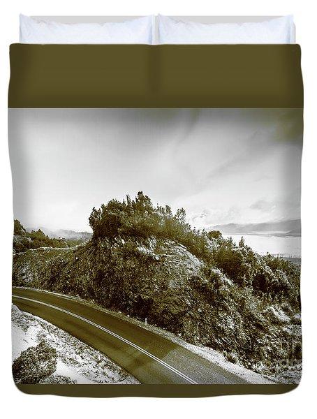 Winding Gordon River Road Duvet Cover
