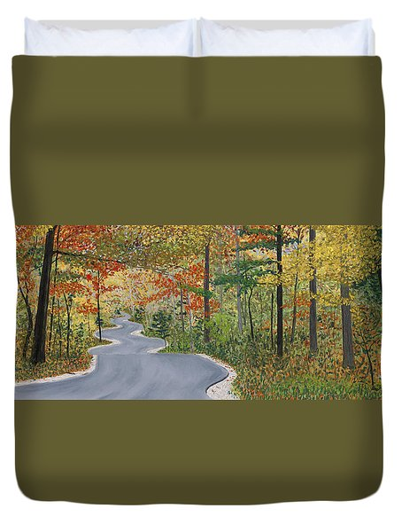 Winding Road Duvet Cover