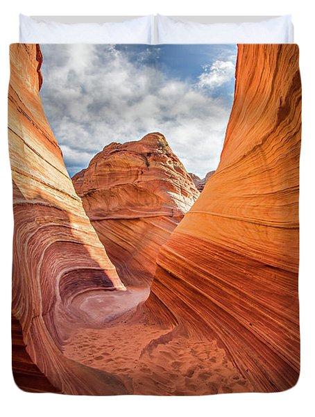 Winding Stripes Of Sandstone Duvet Cover