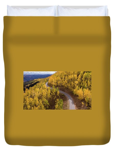 Winding Through Fall Duvet Cover