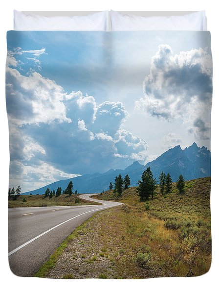 Winding Through The Tetons Duvet Cover