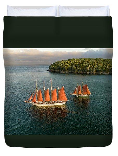 Windjammer Cruises  Duvet Cover