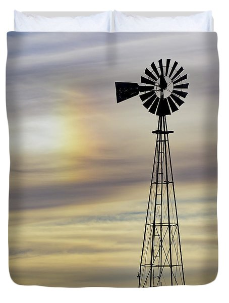 Windmill And Sun Dog Duvet Cover