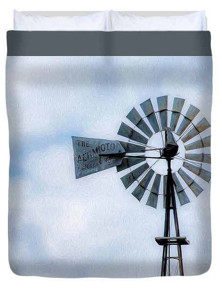 Duvet Cover featuring the photograph Windmill Art -010 by Rob Graham