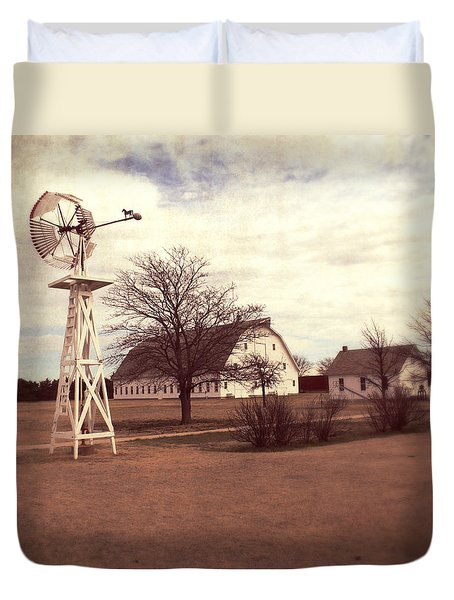 Duvet Cover featuring the photograph Windmill At Cooper Barn by Julie Hamilton