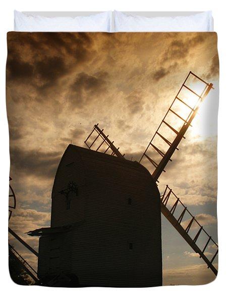 Windmill At Dusk  Duvet Cover