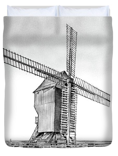 Windmill At Valmy Duvet Cover
