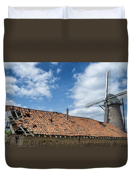 Windmill In Belgium Duvet Cover