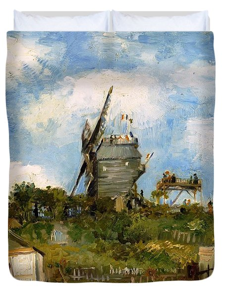 Windmill In Farm Duvet Cover