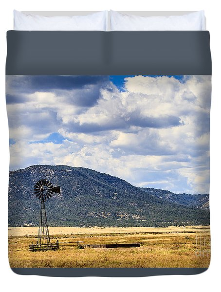 Windmill New Mexico Duvet Cover
